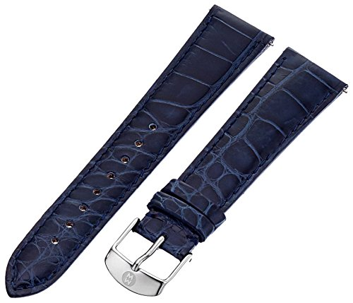 Alligator Watch Michele (MICHELE MS20AB010400 20mm Leather Alligator Blue Watch Strap)