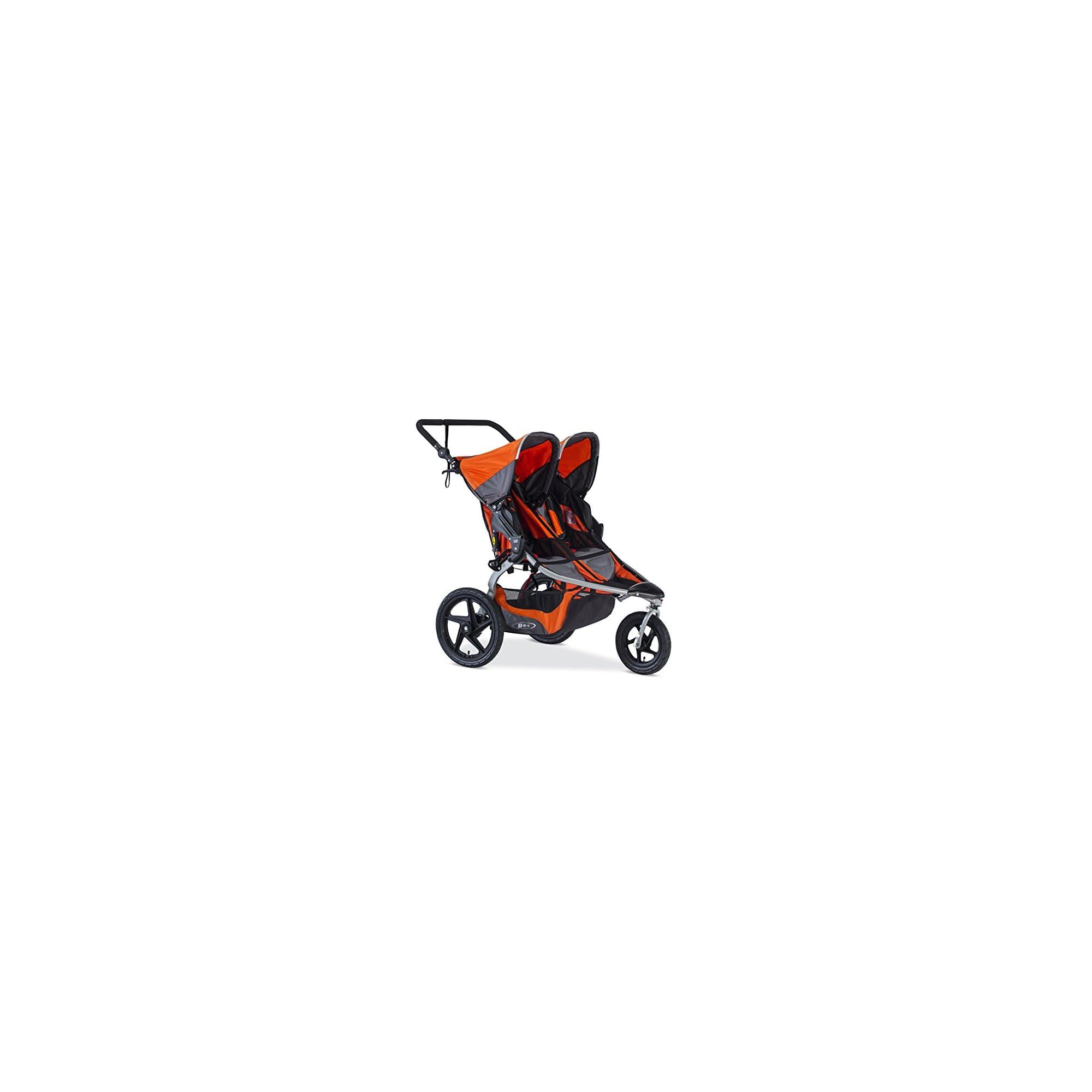 BOB Revolution Flex Duallie 2.0 Jogging Stroller – Up to 100 pounds – UPF 50Plus canopy – Adjustable Handlebar, Canyon