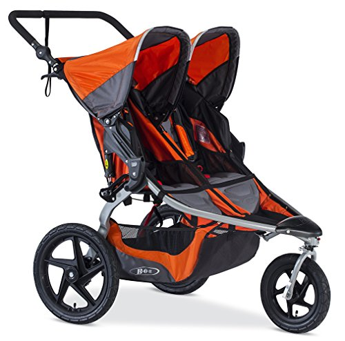 BOB Revolution Flex Duallie 2.0 Jogging Stroller - Up to 100 pounds - UPF 50+ Canopy - Adjustable Handlebar, Canyon