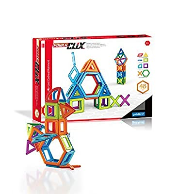 Guidecraft PowerClix Frames Magnetic Building Toys Set - 48 Piece, Stem Skills Development Toy: Toys & Games