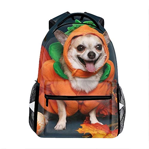 (Dog Halloween Costume School Bookbags for Girls, Cute Casual Backpack College Bags Women Daypack Travel)