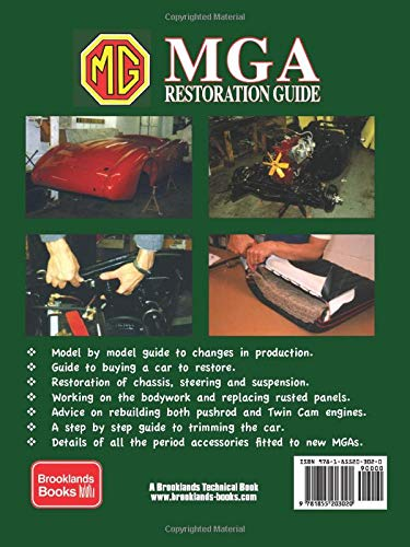 RESTORATION MANUAL MGA GUIDE BOOK GREEN
