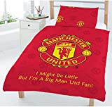Character World Manchester Football Club MUFC Red Junior Cot Bed Duvet Quilt Cover