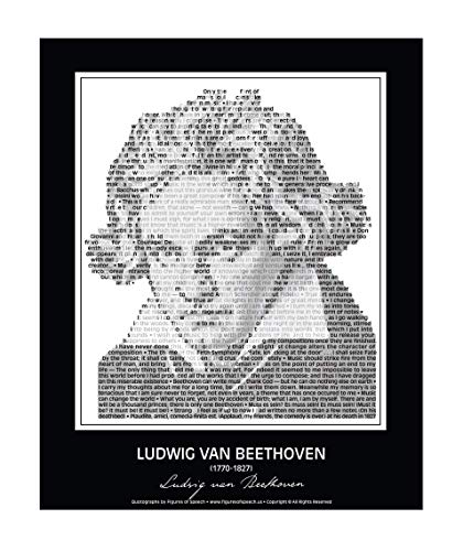 - Ludwig van Beethoven Poster in his own words. Beethoven Portrait/Bust made of Beethoven quotes! Wall Art. Print. Home Decor. 24