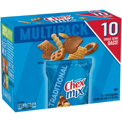 Chex Mix Traditional Snack Mix, 1.75 oz, 10 count