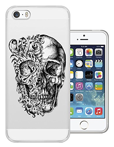 C0453 - Cool Fun Trendy Skeleton Floral Walking Dead Scary Skull Tattoo Biker Skull Design iphone 6 6S 4.7'' Fashion Trend Silikon Hülle Schutzhülle Schutzcase Gel Rubber Silicone Hülle