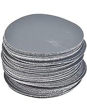 Akozon Sander Disc, 50pcs Hook and Loop 75mm Sander Disc Sanding Polishing Paper Pads Abrasive Sandpaper (1500#)