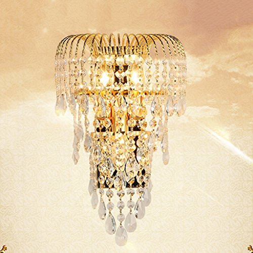 MILUCE Luxury k9 crystal wall lamp led gold living room bedroom bedside dining room wall lamp European lighting by MILUCE (Image #1)