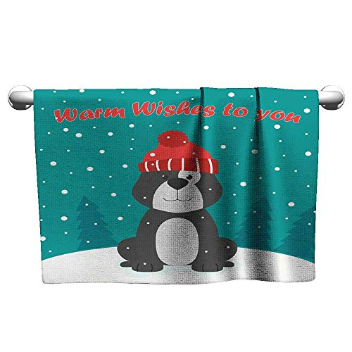 Tankcsard Greeting Card with Funny Dog,t Shirt Towel for Curly Hair