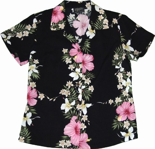 c08ceee4 Hawaii Hibiscus Lei Womens Hawaiian Shirts - Hawaiian Shirts - Aloha Shirt  - Hawaiian Clothing -