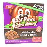 Bear Paws - 36 Pouches of 2 Soft Chocolate Chip Cookies - 1.44KG Box