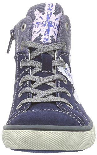 Lurchi Spike - zapatillas deportivas altas de cuero niño Blau (navy 49)
