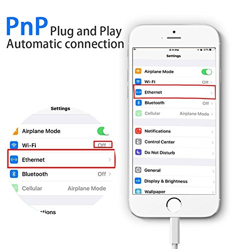 Lightning to RJ45 Ethernet LAN Wired Network Adapter-Overseas Travel Compact for iPhone iPad by FindUWill (Image #3)