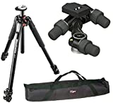 Manfrotto MT055XPRO3 Aluminium 3-Section Tripod kit with 405 Pro Digital Geared Head with Rc4 Rapid Connect Plate (410Pl) and a 35 inch Tripod Carrying Case with Strap