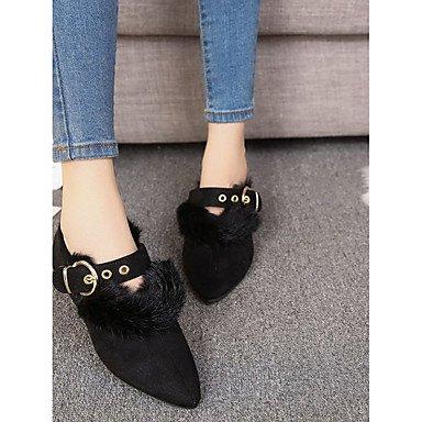 US5.5   EU36   UK3.5   CN35 noir Wuyulunbi@ Chaussures femmes de confort d'hiver en Pu ApparteHommests talon bas Chaussures occasionnels pour