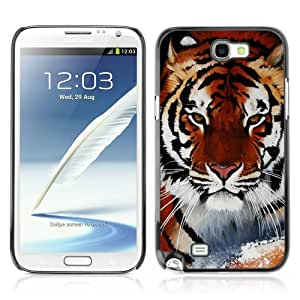 Designer Depo Hard Protection Case for Samsung Galaxy Note 2 N7100 / Cool Snow Tiger by icecream design