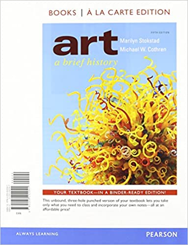 art a brief history books a la carte plus new myartslab with etext access card package 5th edition