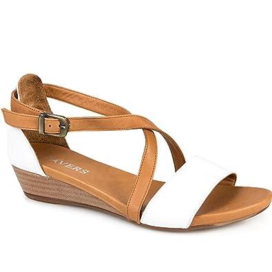 f91685c9c709 Bellissimo Ladies Low Wedge Leather Sandal 304 998  Amazon.co.uk ...