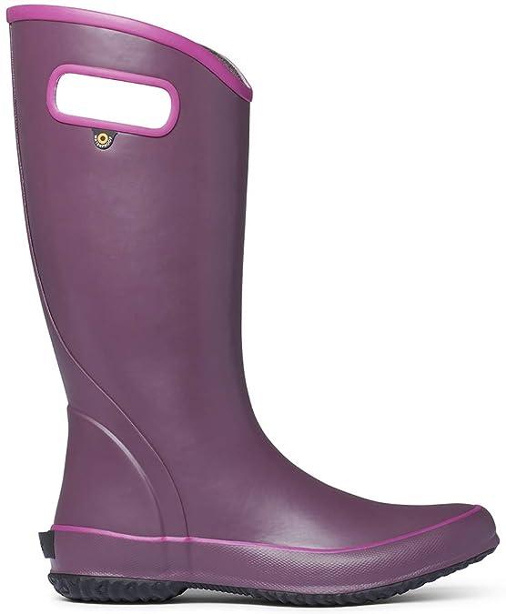 BOGS Women's Solid Rain Boot Violet 7 B US best women's rainboots