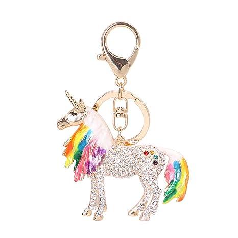 Amazon.com: GH8 Kawaii - Llavero con forma de unicornio y ...