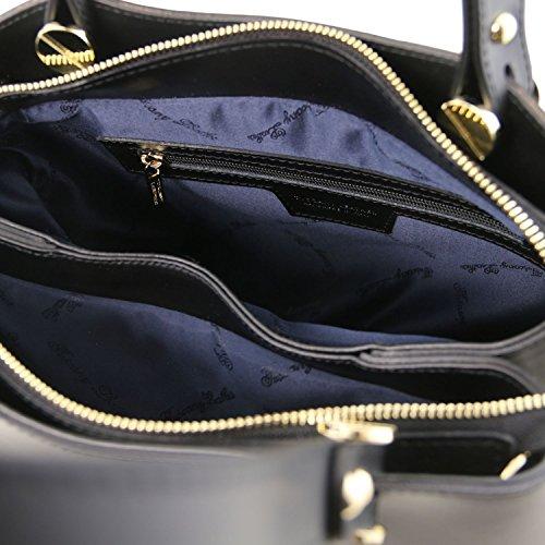 Cognac Anna Leather Noir Tuscany Cuir Main Sac en à w0S5qH