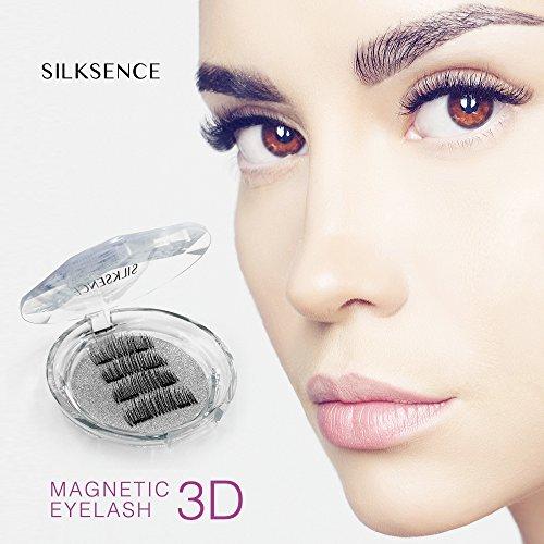 785aec078be SILKSENCE Longer Dual Magnetic False Eyelashes-Premium Quality for Natural  Look(4pcs): Amazon.co.uk: Beauty