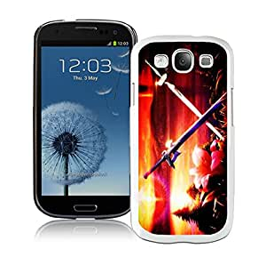 Customized Phone Case For Samsung S3 Sword Art Online Cell Phone Cover Case for Galaxy S3 I9300 White