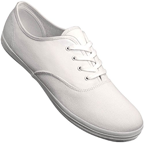 Aris Allen Menns Hvit Klassisk Lerret Dans Sneaker