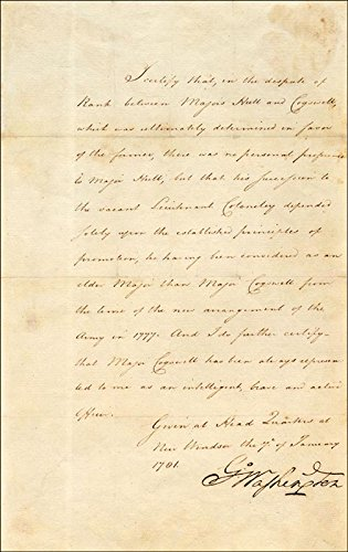 President George Washington - Manuscript Letter Signed 01/07/1781