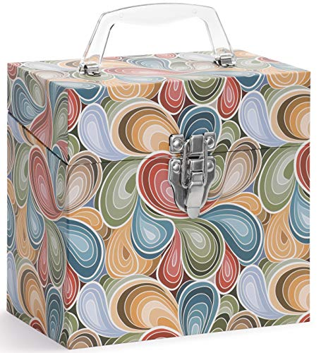 Vinyl Record Storage CASE. 45 Records Storage. Paisley Parts. 45-RPM 7 inch Record case. Holds Up to 50 45rpm. Vinyl Record Holder. Vintage Design Record Carrying Case