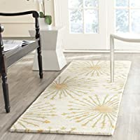 Safavieh Bella Collection BEL123A Handmade Beige and Gold Premium Wool Runner (23 x 7)