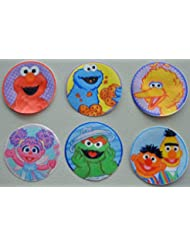 Sesame Street Edible Wafer Cupcake / Cookie Toppers Licensed by Decopac ~ Pre Cut 2 1/2 Round BUY TWO GET THIRD FREE!