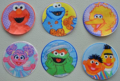 Sesame Street Edible Wafer Cupcake / Cookie Toppers Licensed by Decopac ~ Pre Cut 2 1/2