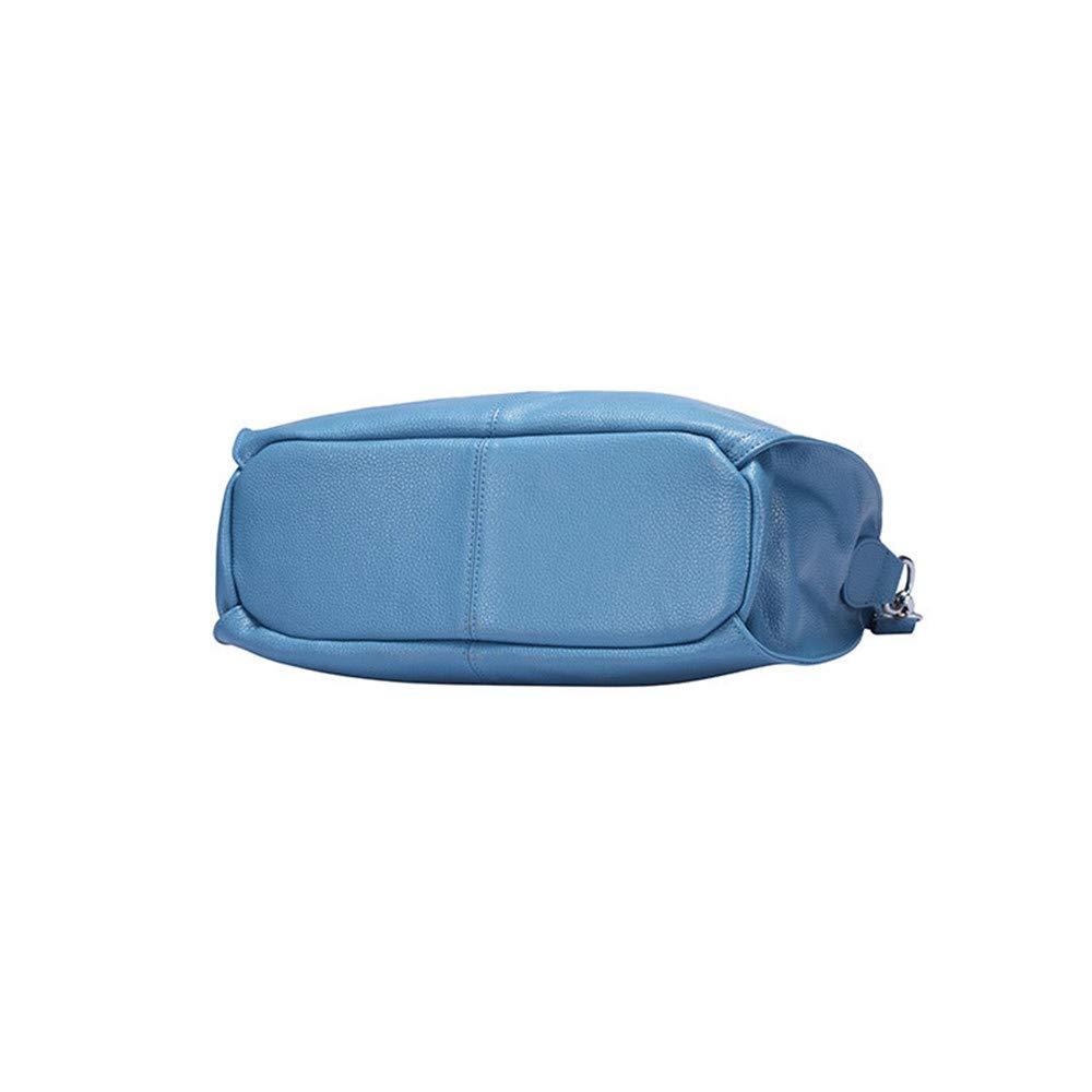 Umhängetasche Umhängetasche Neue Lederhandtasche Casual Fransen Rindsleder Tasche Schultertasche Messenger Bag Ladies für Frauen (Farbe : Blau) Blau