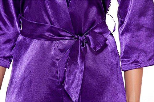 Westeng Encaje Camisón Señora Lencería Cama Ropa Ropa Lisa Pijama 1Pcs Púrpuras de Mujer Salto Satén Interior PúrpuraS qq10Xr