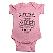 Ilion Clothing Co. Harry Potter Baby One Piece Dumbledore Happiness Bodysuit (6 Month, Pink)