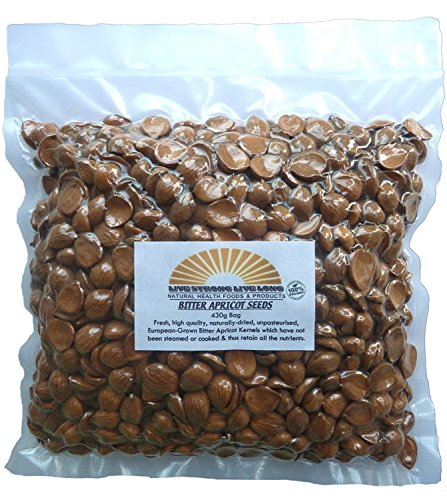 Bitter Apricot Kernels Raw 100% Organic (Seeds) 430g Bag (Apricot Seed)
