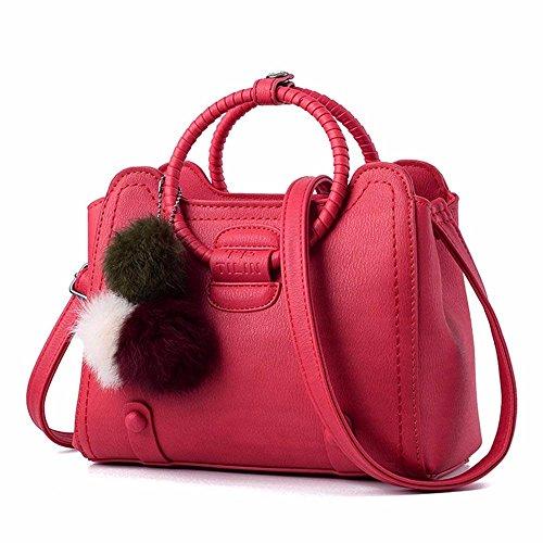 Bolso Rosa Bandolera Bolso Mujer Mano Crossbody de CCZUIML Bag rojo de xBqwzSwYH