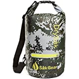 DrySak Waterproof Dry Bag with Exterior Zip Pocket, Shoulder Strap and Reflective Trim, For Watersports & Outdoor Activities