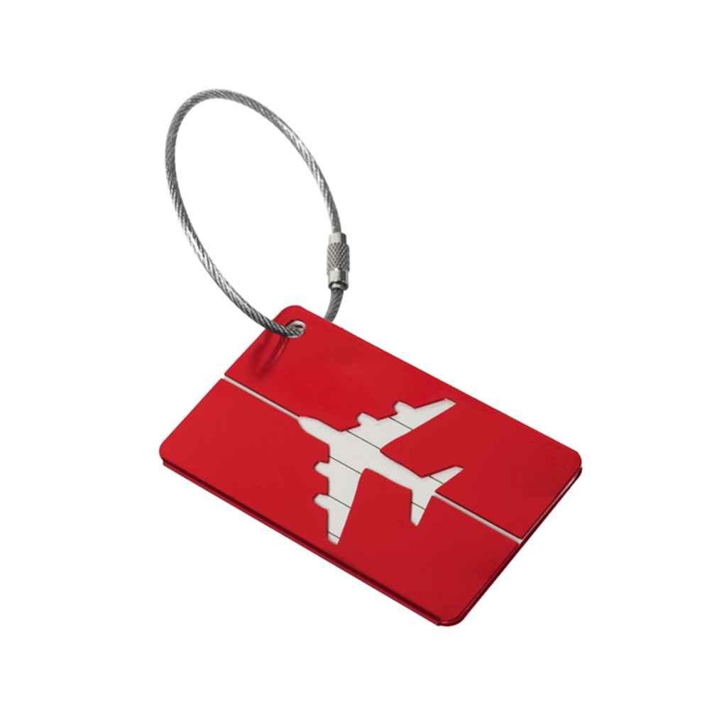 Uzinb Aluminiumkofferanh/änger Koffer Label-Name Adresse ID-Tasche Gep/äck Tag Reisen