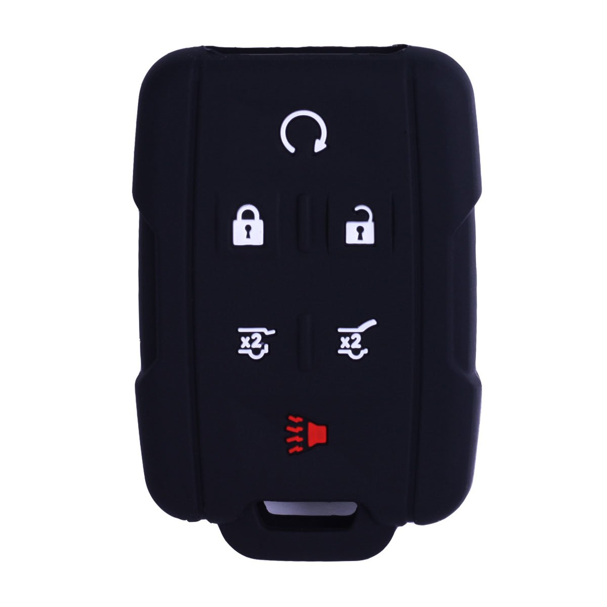 WERFDSR Sillicone key fob Skin key Cover Remote Case Protector Shell for 2015 2016 Chevrolet Suburban Tahoe GMC Yukon Smart Remote blue