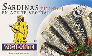 Vigilante - Sardinas picantes en aceite vegetal - 120 g