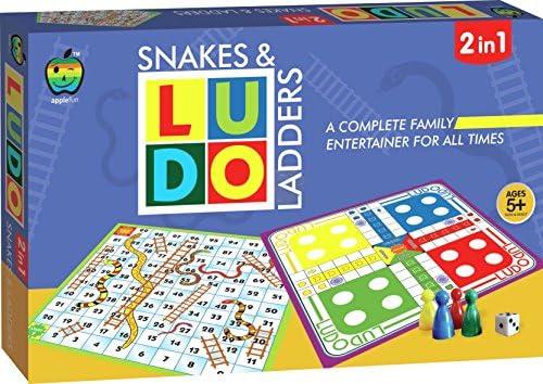 [해외]Applefun 2 in 1 Ludo Plus Snakes and Ladders Multi Color / Applefun 2 in 1 Ludo Plus Snakes and Ladders, Multi Color