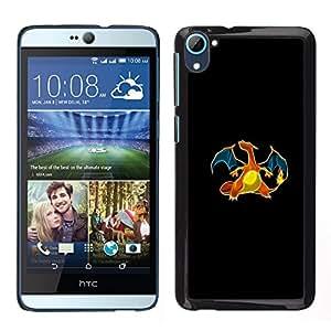 A-type Arte & diseño plástico duro Fundas Cover Cubre Hard Case Cover para HTC Desire D826 (Meter monstruo dragón anaranjado)