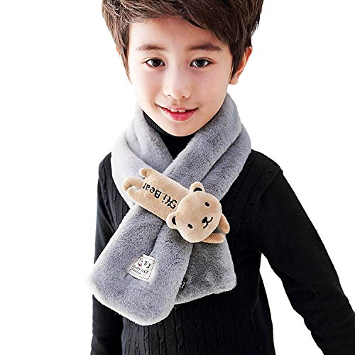 Rancco Unisex Kid Warm Scarf Cute Winter Windproof Neck Warmer Soft Loop Scarves
