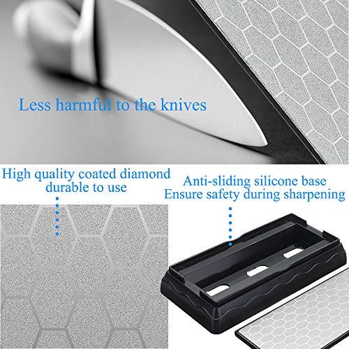 Amazon.com: Afilador de cuchillos de piedra de afilar, con ...