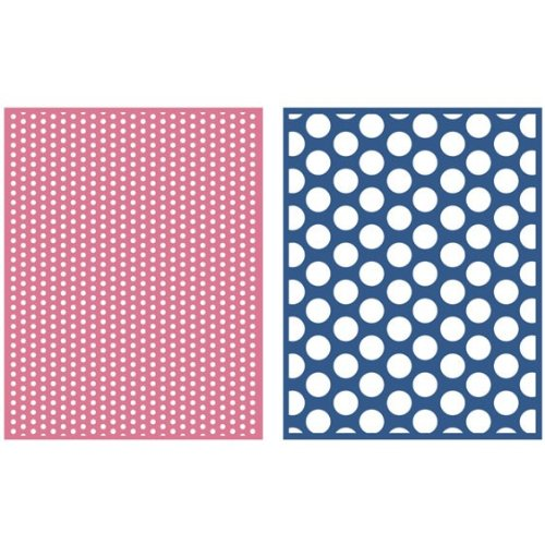 QUICKUTZ Lifestyle Crafts Spotted 2-Pack Embossing Folder for Scrapbooking