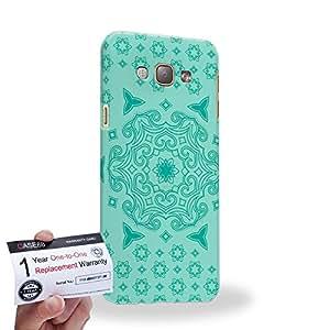 Case88 [Samsung Galaxy A8] 3D impresa Carcasa/Funda dura para & Tarjeta de garantía - Art Fashion Turquoise Doodle Doilies