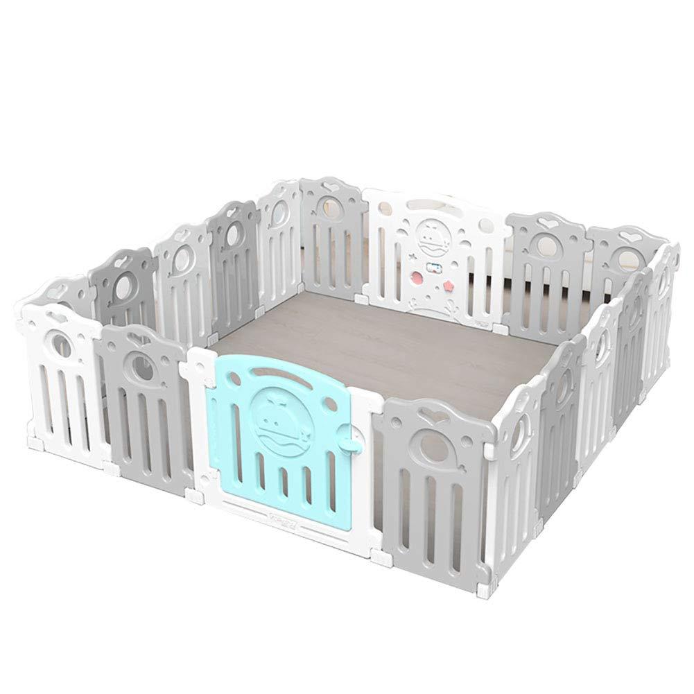 赤ちゃんの囲い 高密度ポリエチレンポータブル子供の遊び場ベビークローラープロテクターウォッシャブル屋内遊び場(187.5センチメートル* 187.5センチメートル)   B07JLC9T2L