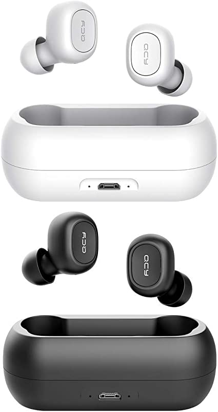 Amazon Com Qcy T1 True Wireless Earbuds With Microphone Tws 5 0 Bluetooth Headphones Compatible For Iphone Android And Other Leading Smartphones Black And White Home Audio Theater